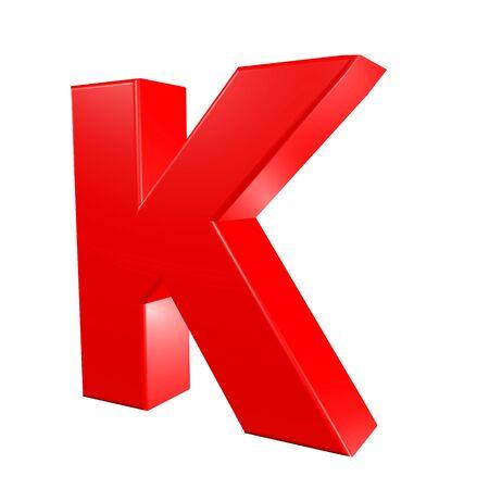 Red alphabet - K