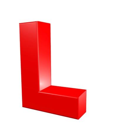 Red alphabet - L