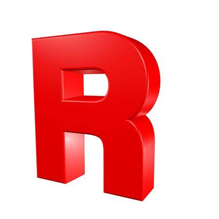 Red alphabet - R