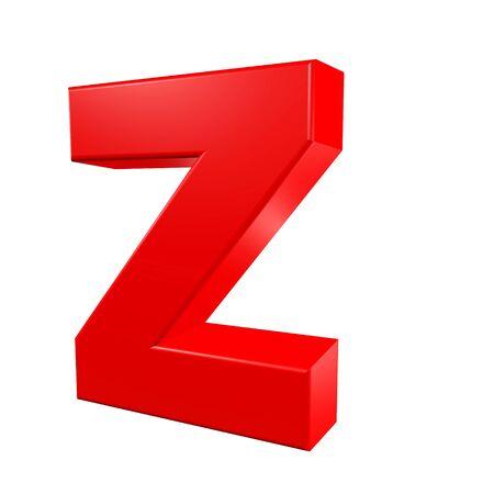 Red alphabet - Z