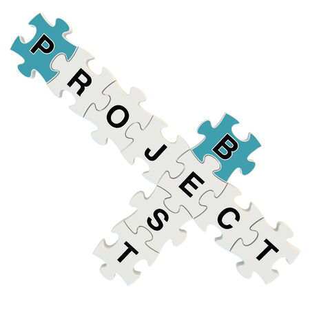 Best project 3d puzzle on white background