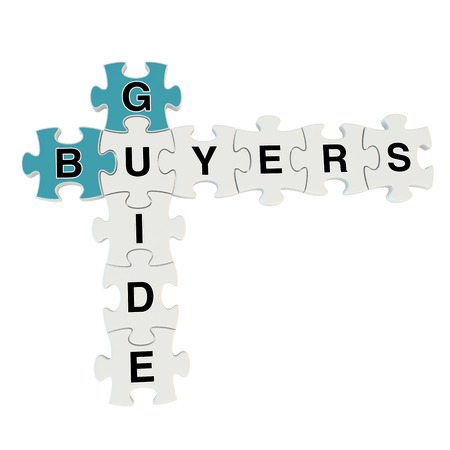 Buyers guide 3d puzzle on white background Stock Photo - 25878395