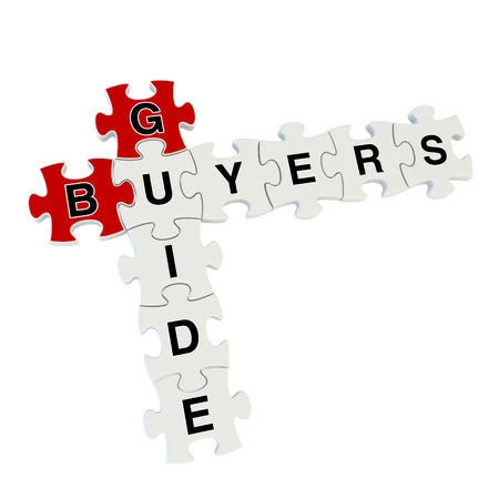 Buyers guide 3d puzzle on white background Stock Photo - 25878396