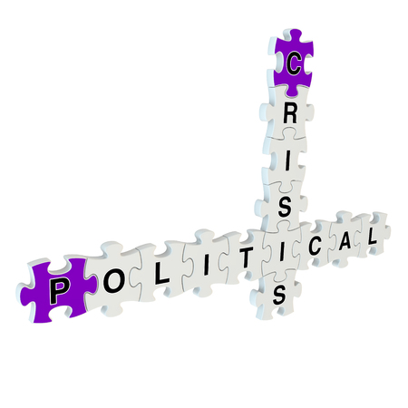 remonstrance: Political crisis 3d puzzle on white background