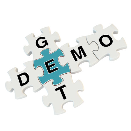 Get demo 3d puzzle on white background