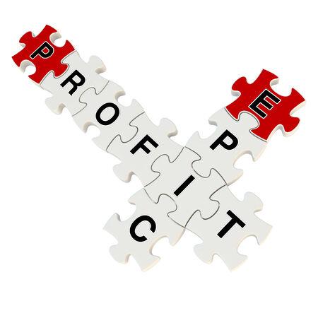 Epic profit 3d puzzle on white background