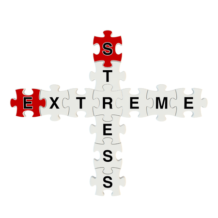Stress extreme 3d puzzle on white background