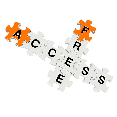 Free access 3d puzzle on white background photo