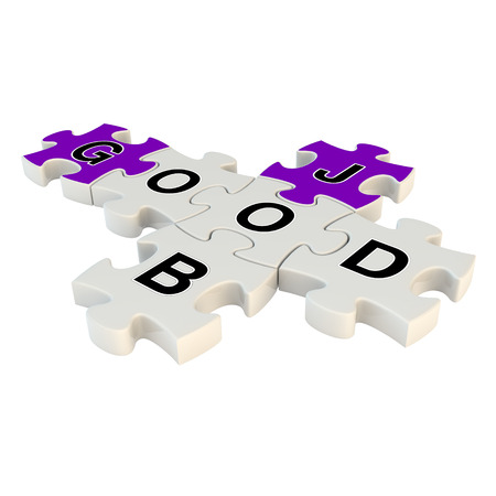 flattery: Good job 3d puzzle on white background