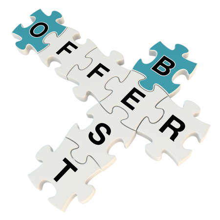 Best offer 3d puzzle on white background photo