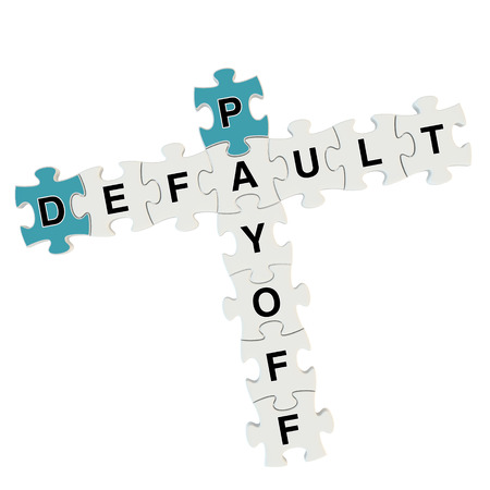 Dafault payoff 3d puzzle on white background