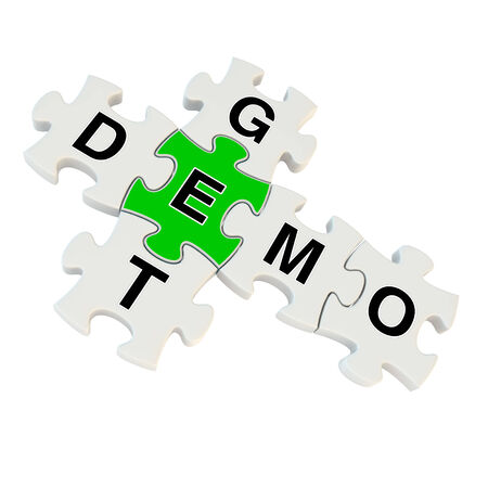 demo: Get demo 3d puzzle on white background
