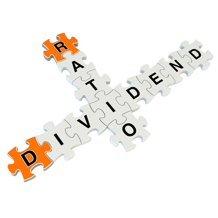 ratio: Dividend ratio 3d puzzle on white background