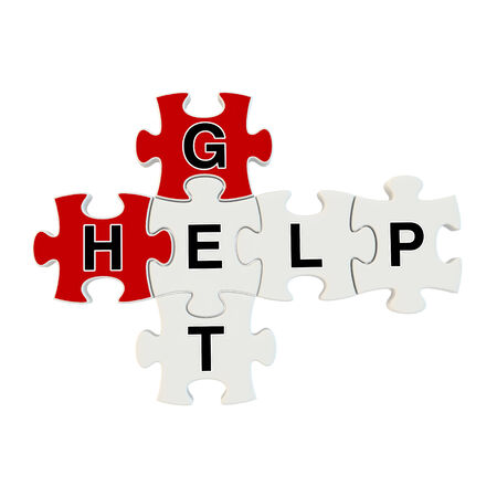Get help 3d puzzle on white background