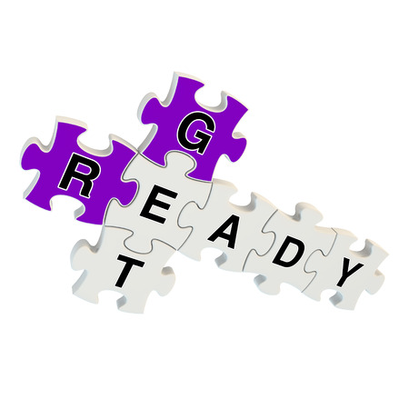 quicker: Get ready 3d puzzle on white background