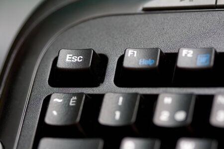 the part of black keybord close-up Stock Photo