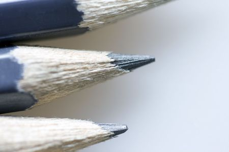 gray pencils macro on neutral gray backgound
