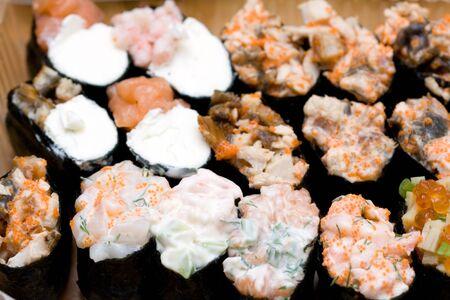 ? Vielzahl von verschiedenen sushi Lizenzfreie Bilder