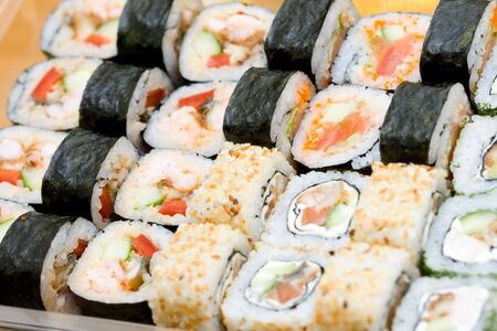 japenese: different types of traditional japanese rolls