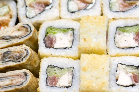 japenese: à wide variety of different rolls and sushi