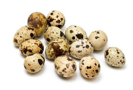 quail eggs on neutral white background Stock Photo - 4632053