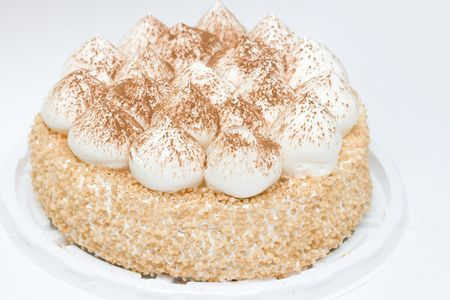 frischen Kuchen auf neutralem Hintergrund Lizenzfreie Bilder