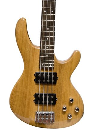 bass guitar isolated on white Stock Photo