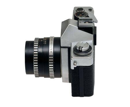 reflex: vecchio riflesso del corpo della fotocamera con l'obiettivo