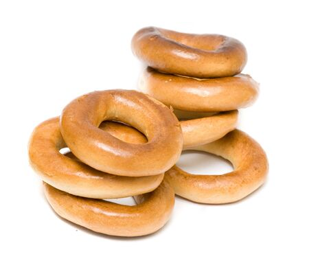 bread-rings (salted rings) isolated on white background