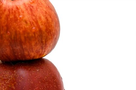 red apples close up isolated Stock Photo - 5128545