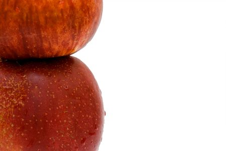 red apples close up isolated Stock Photo - 5137072