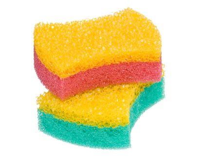 Bath sponge isolated on white Stock Photo
