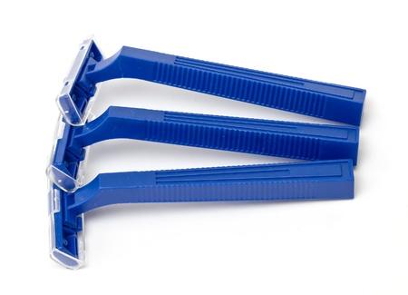 razor isolated on white photo