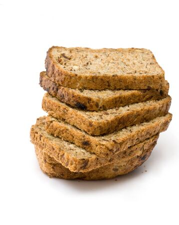 Brot isolated on white