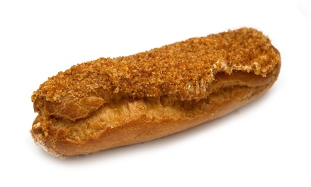 eclair isolated on white photo