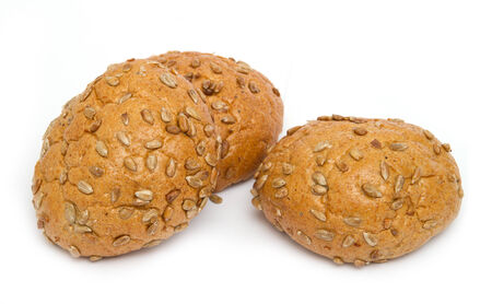bread with sunflower seed isolated
