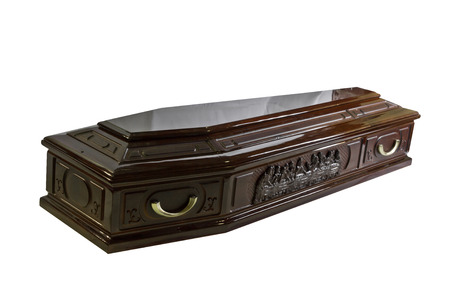 coffin isolated on white background photo