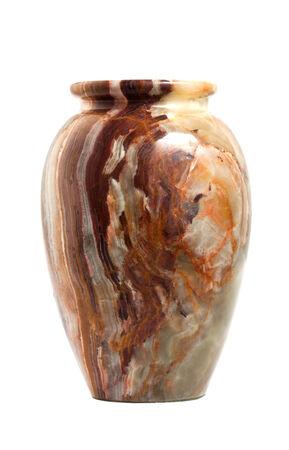 onyx vase isolated on white