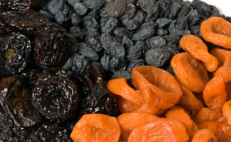 different dried fruits close up photo