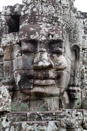 Gesicht im kambodschanischen Tempel Nahaufnahme Lizenzfreie Bilder