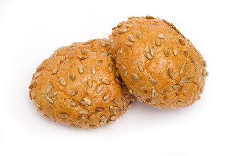 Brot mit Sonnenblumenkernen isoliert
