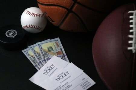 Legal betting on  esports and professional sports such as Baseball, Football, Hockey, Basketball, and SoccerFutbol Фото со стока
