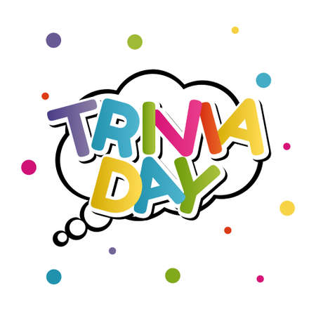 vector graphic of trivia day good for trivia day celebration. flat design. flyer design.flat illustration.