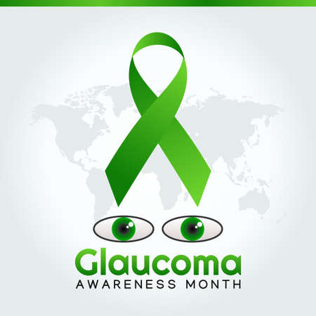 vector graphic of glaucoma awareness month good for glaucoma awareness month celebration. flat design. flyer design.flat illustration.
