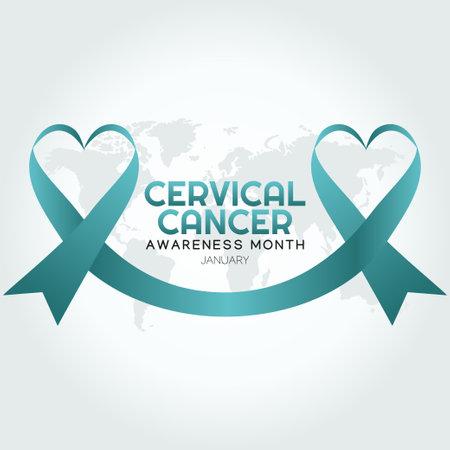 vector graphic of cervical cancer awareness month good for cervical cancer awareness month celebration. flat design. flyer design.flat illustration.