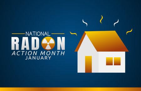 vector graphic of national radon action month good for national radon action month celebration. flat design. flyer design.flat illustration.