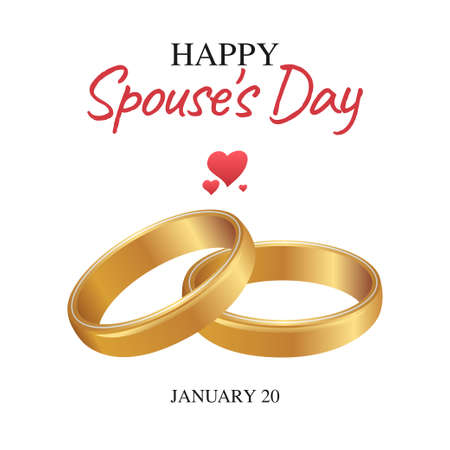 vector graphic of happy spouse's day good for spouse's day celebration. flat design. flyer design.flat illustration.