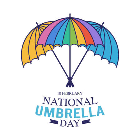 vector graphic of national umbrella day good for national umbrella day celebration. flat design. flyer design.flat illustration.