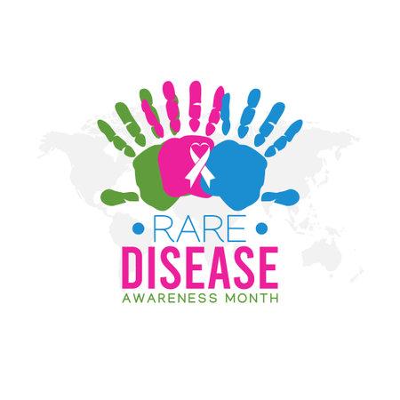 vector graphic of rare disease awareness month good for rare disease awareness month celebration. flat design. flyer design.flat illustration.
