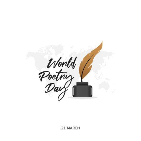 vector graphic of world poetry day good for world poetry day celebration. flat design. flyer design.flat illustration. Vecteurs